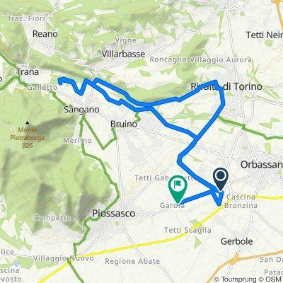 Restful route in Rivalta di Torino