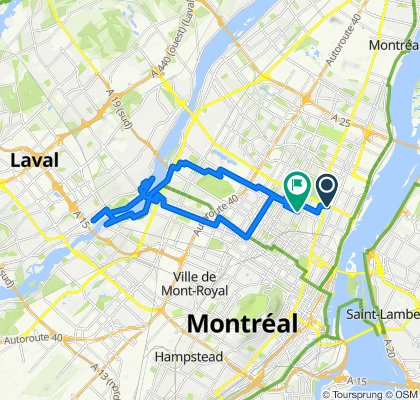 Steady ride in Montréal