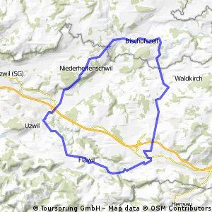 Gossau - Bischofszell - Niederhelfenschwil, Flawil