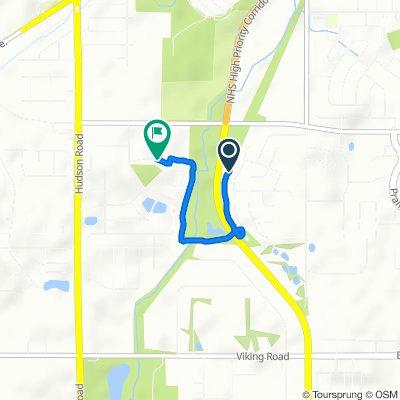 Moderate route in Cedar Falls
