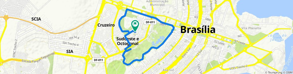 Moderate route in Brasília