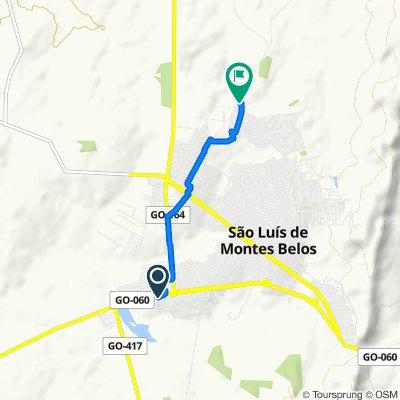 Steady ride in São Luís de Montes Belos