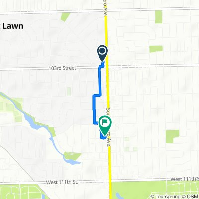 10240 S Cicero Ave, Oak Lawn to 10750 S Cicero Ave, Oak Lawn