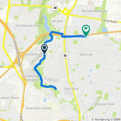 Restful route in Glenroy