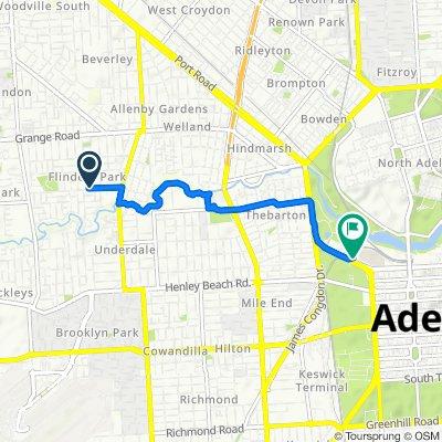 Steady ride in Flinders Park