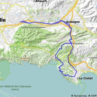 route des crtes cassisla ciotat Bikemap Your bike routes