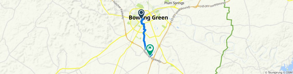 1632 Forrest Dr, Bowling Green to 2055 KY-884, Bowling Green
