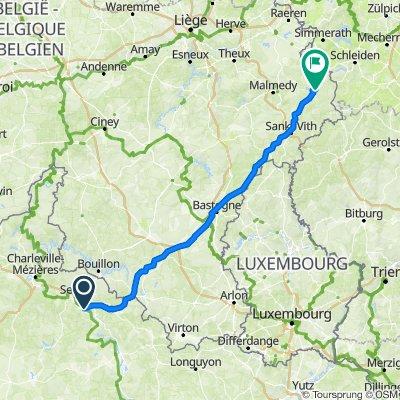 12 Route de Sedan, Remilly-Aillicourt naar Zur Rodder Höhe 5, Büllingen