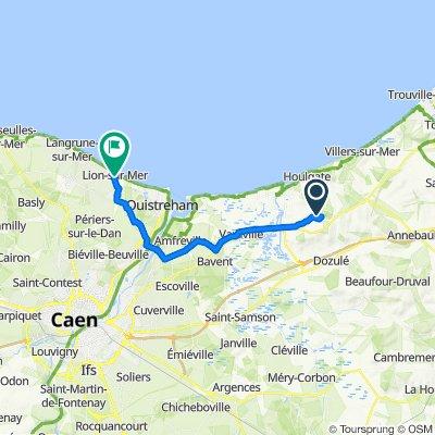Route nach 1–11 Boulevard Carnot, Lion-sur-Mer