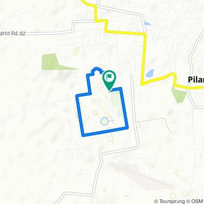 BITS Pilani (Pilani Campus) cycling circuit (3.5 KM)