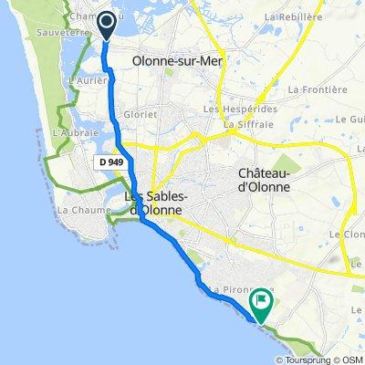 Route des Pins 12, Olonne-sur-Mer naar Promenade Edouard Herriot 51, Le Château-d'Olonne