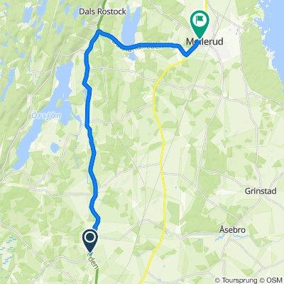 Route to Landsvägsgatan 52, Mellerud