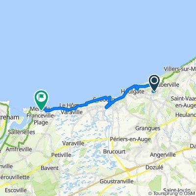 De Bois Viguier 385, Gonneville-sur-Mer à Avenue du Havre 36, Merville-Franceville-Plage