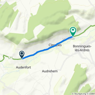 Sporty route in Clerques
