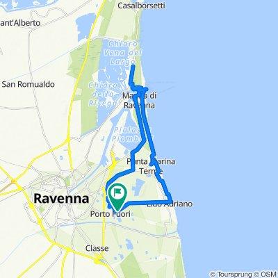 Da Via Bonifica 63Q, Ravenna a Via Bonifica 63Q, Ravenna