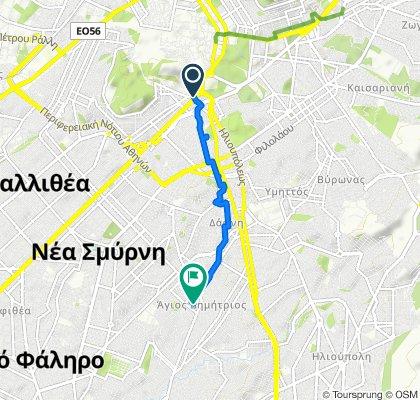 Λεμπέση 11, Αθήνα to Καλλιφρονά 19, Άγιος Δημήτριος Αττικής