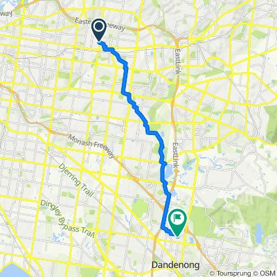 473 Middleborough Road, Box Hill North to 50–54 Boyd Street, Dandenong North