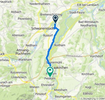 Restful route in Peiskam