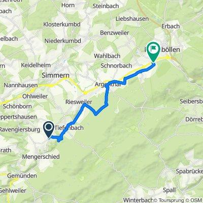 Sargenroth nach Rheinböllen