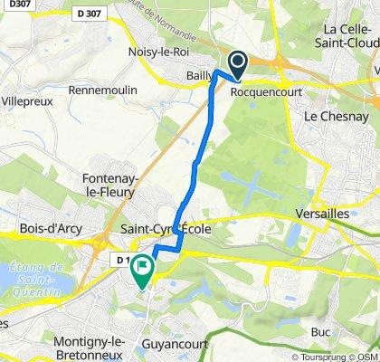 Blistering ride in Guyancourt