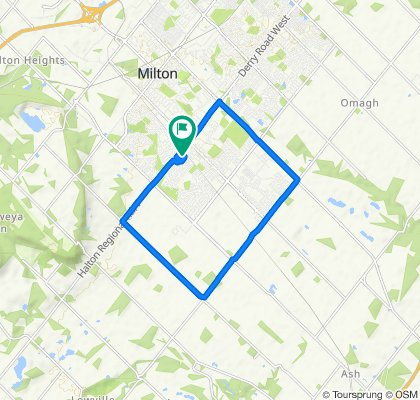 Moderate route in Milton
