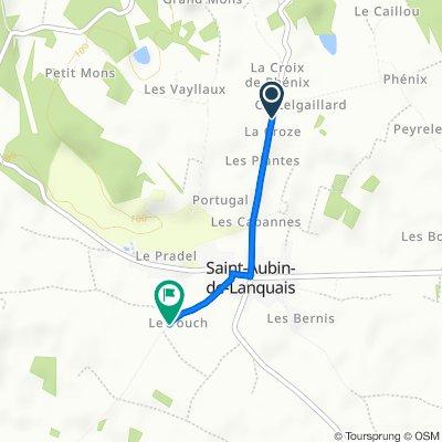 D21, Saint-Aubin-de-Lanquais to Unnamed Road, Saint-Aubin-de-Lanquais
