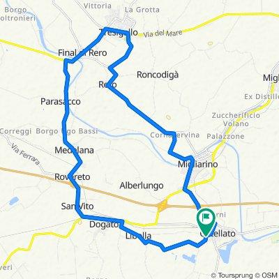 Supersonic route in Ostellato