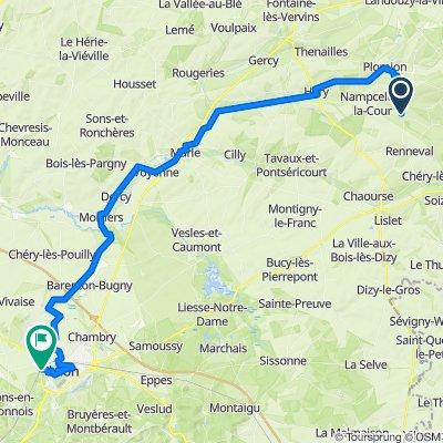 7 a - vrienden op de fiets dagny tot Laon camping cheneau