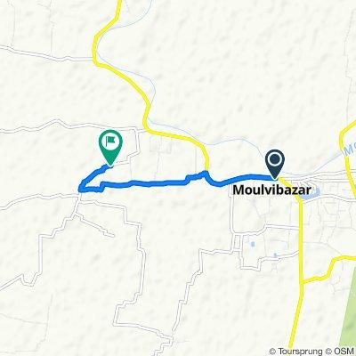 Dhaka - Moulvibazar Highway, Maulvi Bazar to Dighirpar-Shah Bondar Road