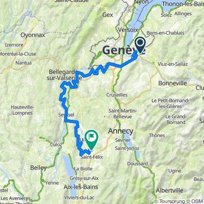 Tour de la Yaute - Étape 1 : Genevois et Albanais