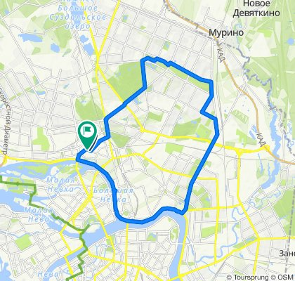 От Белоостровская улица, 31, Санкт-Петербург до Белоостровская улица, 35, Санкт-Петербург