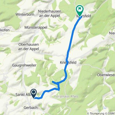 Route nach Am Neuberg 4, Mörsfeld