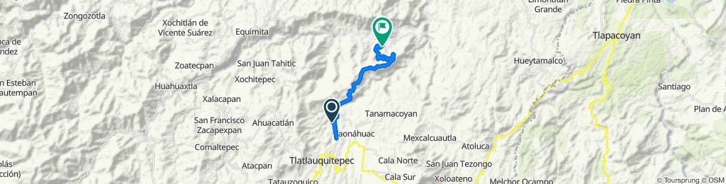 Restful route in Tlatlauquitepec