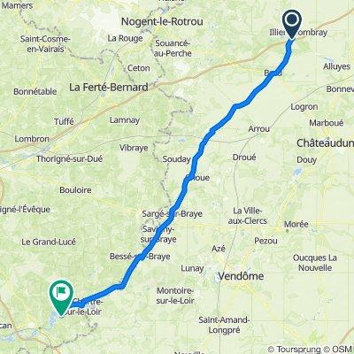 De Monjouvin, Illiers-Combray à D61 12, Marçon