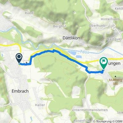 7, Embrach to Hinterdorfstrasse 1, Pfungen