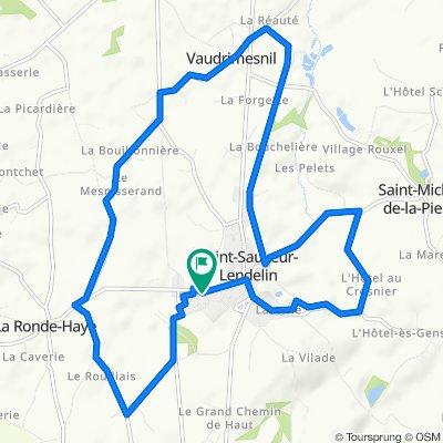 De 1 Résidence de l'Avenir, Saint-Sauveur-Lendelin à Résidence de l'Avenir, Saint-Sauveur-Lendelin