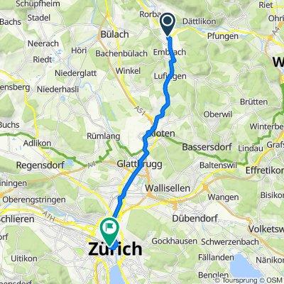 Im Feld 32, Embrach to Museumstrasse 1, Zürich