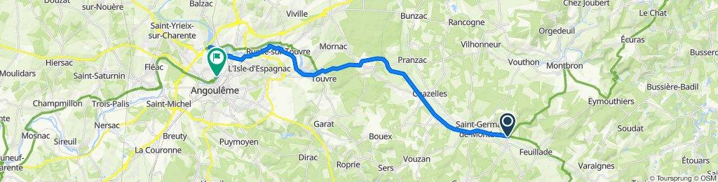 De Le Colombier 15, Marthon à Rue de Bourgine 13, Angoulême