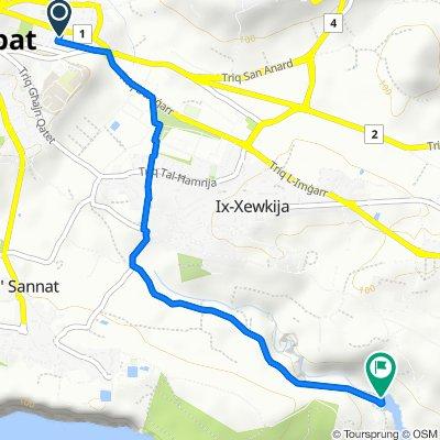 От Triq Fortunato Mizzi 2, Ir-Rabat Għawdex до Triq ta' Mġarr ix-Xini, Ta' Sannat
