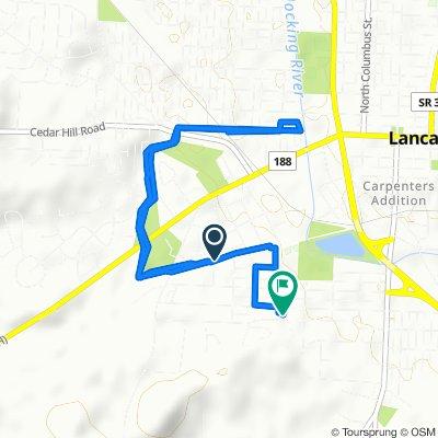 692 Olive Ln, Lancaster to 543 Spring St, Lancaster
