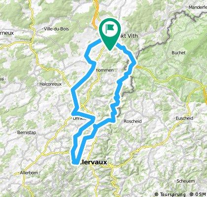 St.Vith-Auel-Ouren-Clervaux-Espeler-St.Vith