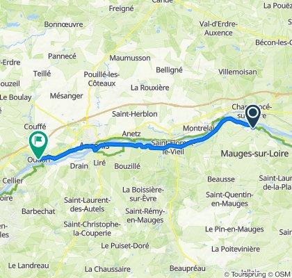 De 4–10 Rue du Pilori, Montjean-sur-Loire à D323, Oudon