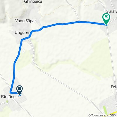 Comuna Fântânele to DC73 372, Tohani