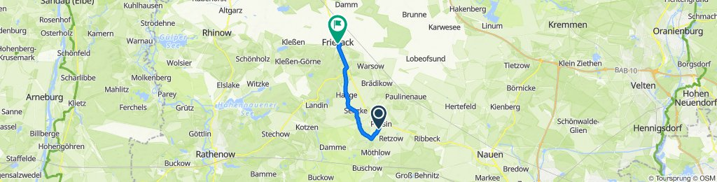 Straße der Jugend 30, Pessin nach Klessener Straße 2, Friesack