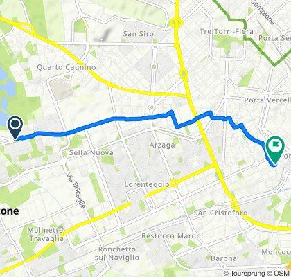 Da Via Bianca Milesi 2–4P02, Milano a Via Savona 17/5, Milano