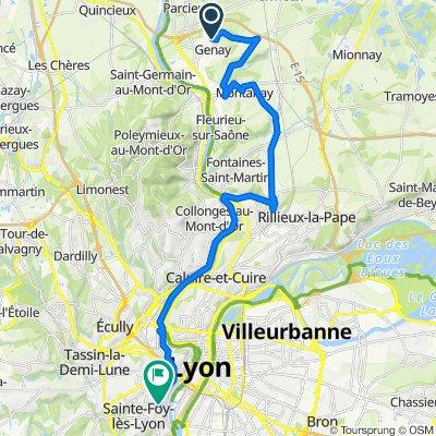De 121 Rue de Proulieu, Genay à 60 Avenue Valioud, Sainte-Foy-lès-Lyon