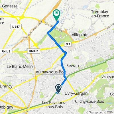 Itinéraire modéré en Villepinte