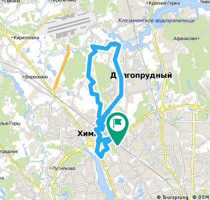 Веломаршрут Левый Берег - Ивакино - Химкинский лес - Химки - Москва