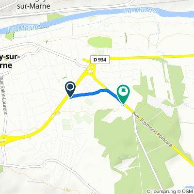 Steady ride in Lagny-sur-Marne