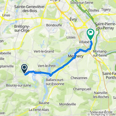 Restful route in Saint-Vrain